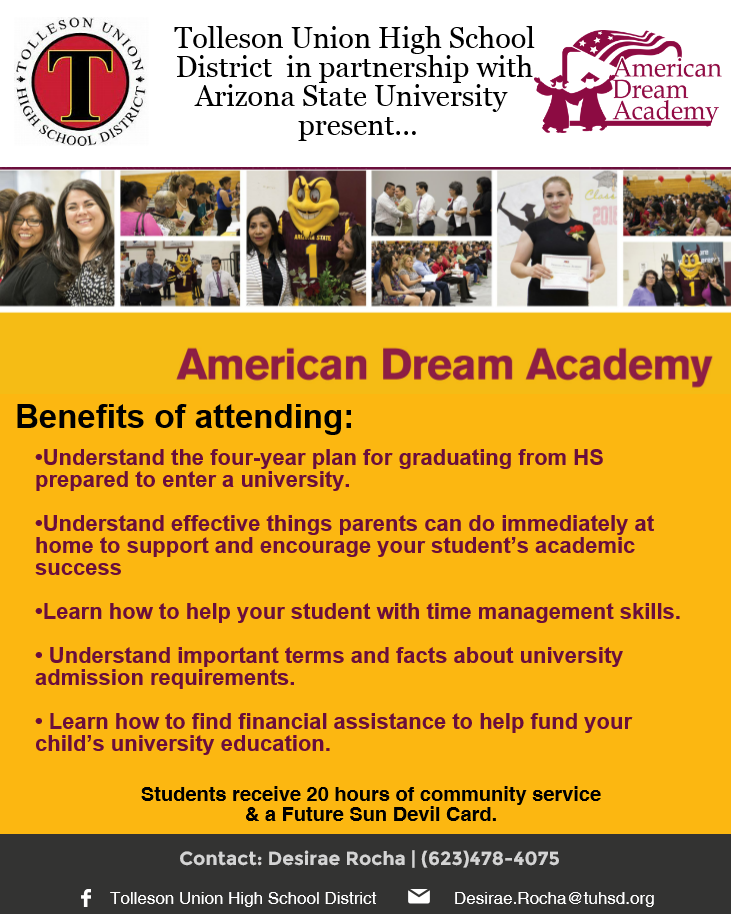 American Dream Academy Information Flyer