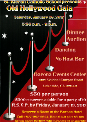 Old Hollywood Gala Informational Flyer